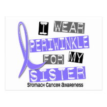 I Wear Periwinkle For My Sister 37 Stomach Cancer Postcard