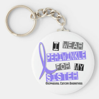 I Wear Periwinkle For My Sister Esophageal Cancer Keychain