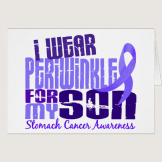 I Wear Periwinkle For My Son 6.4 Stomach Cancer Card