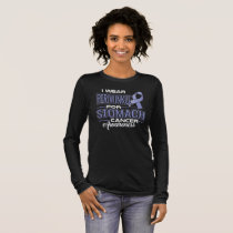 I Wear Periwinkle For Stomach Cancer Awareness Long Sleeve T-Shirt