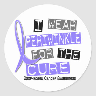 I Wear Periwinkle For The Cure Esophageal Cancer Stickers