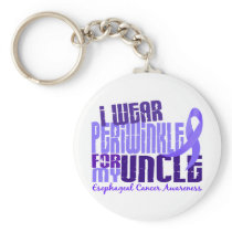 I Wear Periwinkle For Uncle 6.4 Esophageal Cancer Keychain