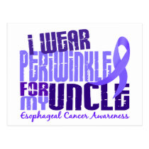 I Wear Periwinkle For Uncle 6.4 Esophageal Cancer Postcard