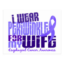 I Wear Periwinkle For Wife 6.4 Esophageal Cancer Postcard