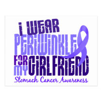 I Wear Periwinkle Girlfriend 6.4 Stomach Cancer Postcard