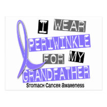 I Wear Periwinkle Grandfather 37 Stomach Cancer Postcard