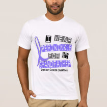 I Wear Periwinkle Grandfather 37 Stomach Cancer T-Shirt
