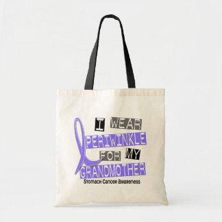 I Wear Periwinkle Grandmother 37 Stomach Cancer Canvas Bags