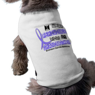 I Wear Periwinkle Grandmother 37 Stomach Cancer Doggie T Shirt