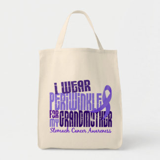 I Wear Periwinkle Grandmother 6.4 Stomach Cancer Bag