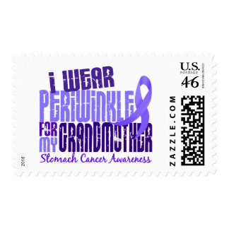 I Wear Periwinkle Grandmother 6.4 Stomach Cancer Stamp
