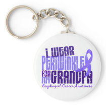 I Wear Periwinkle Grandpa 6.4 Esophageal Cancer Keychain