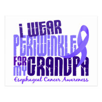 I Wear Periwinkle Grandpa 6.4 Esophageal Cancer Postcard