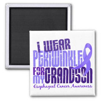 I Wear Periwinkle Grandson 6.4 Esophageal Cancer 2 Inch Square Magnet