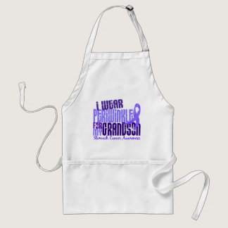 I Wear Periwinkle Grandson 6.4 Stomach Cancer Adult Apron