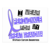 I Wear Periwinkle Great Grandma 37 Stomach Cancer Postcard