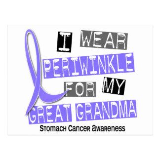 I Wear Periwinkle Great Grandma 37 Stomach Cancer Postcard