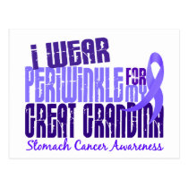 I Wear Periwinkle Great Grandma 6.4 Stomach Cancer Postcard