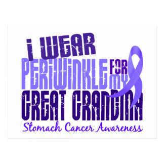 I Wear Periwinkle Great Grandma 6.4 Stomach Cancer Postcard