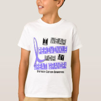 I Wear Periwinkle Great Grandpa 37 Stomach Cancer T-Shirt