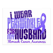I Wear Periwinkle Husband 6.4 Stomach Cancer Postcard