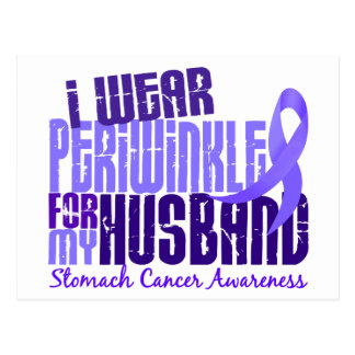 I Wear Periwinkle Husband 6.4 Stomach Cancer Postcard