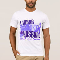 I Wear Periwinkle Husband 6.4 Stomach Cancer T-Shirt