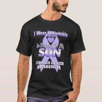 I Wear Periwinkle In Memory Of My Son Stomach Canc T-Shirt