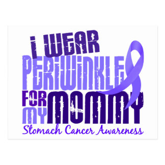 I Wear Periwinkle Mommy 6.4 Stomach Cancer Postcard