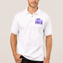 I Wear Periwinkle Mother-In-Law 6.4 Stomach Cancer Polo Shirt