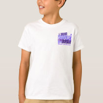I Wear Periwinkle Nana 6.4 Stomach Cancer T-Shirt