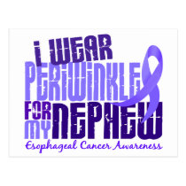 I Wear Periwinkle Nephew 6.4 Esophageal Cancer Postcard