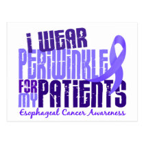 I Wear Periwinkle Patients 6.4 Esophageal Cancer Postcard