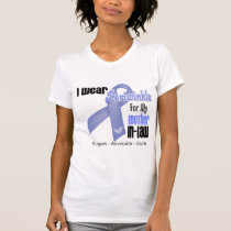 I Wear Periwinkle Ribbon For My Mother in Law Tees