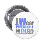 I Wear Periwinkle Ribbon For The Cure Button