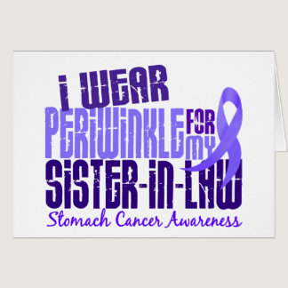 I Wear Periwinkle Sister-In-Law 6.4 Stomach Cancer Card
