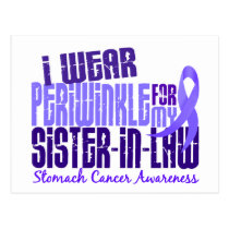 I Wear Periwinkle Sister-In-Law 6.4 Stomach Cancer Postcard