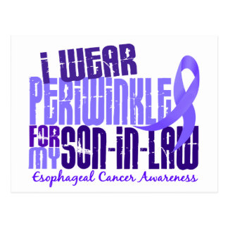 I Wear Periwinkle Son-In-Law 6.4 Esophageal Cancer Postcard