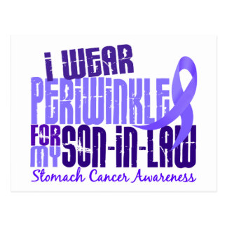 I Wear Periwinkle Son-In-Law 6.4 Stomach Cancer Postcard