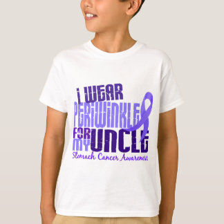 I Wear Periwinkle Uncle 6.4 Stomach Cancer T-Shirt