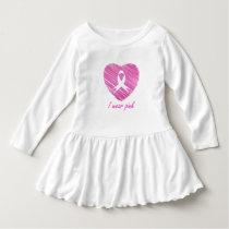 I wear Pink- A breast cancer awareness symbol Dress