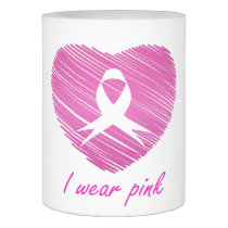 I wear Pink- A breast cancer awareness symbol Flameless Candle