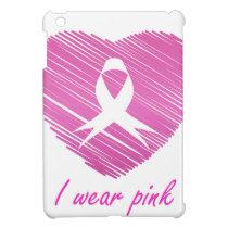 I wear Pink- A breast cancer awareness symbol iPad Mini Cover