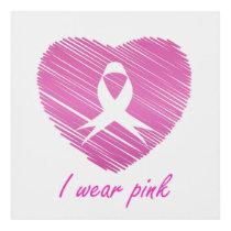 I wear Pink- A breast cancer awareness symbol Panel Wall Art