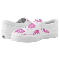 I wear Pink- A breast cancer awareness symbol Slip-On Sneakers