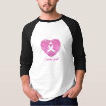 I wear Pink- A breast cancer awareness symbol T-Shirt