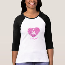 I wear Pink- A breast cancer awareness symbol T-Shirt