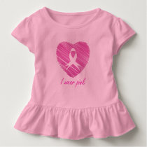 I wear Pink- A breast cancer awareness symbol Toddler T-shirt