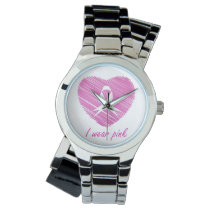 I wear Pink- A breast cancer awareness symbol Watch