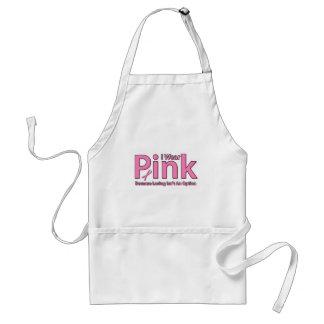 I Wear Pink Adult Apron